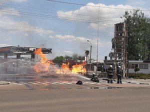 Пожежа на АЗС в Житомирі